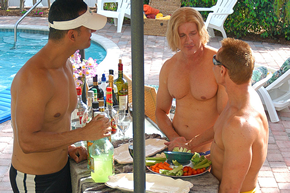 Ft.Lauderdale exclusively gay men's clothing optional Windamar Beach Resort